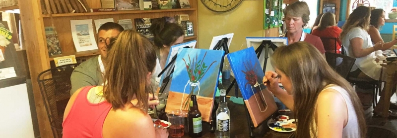 Sip and Paint at Nature's Favorite Entrance