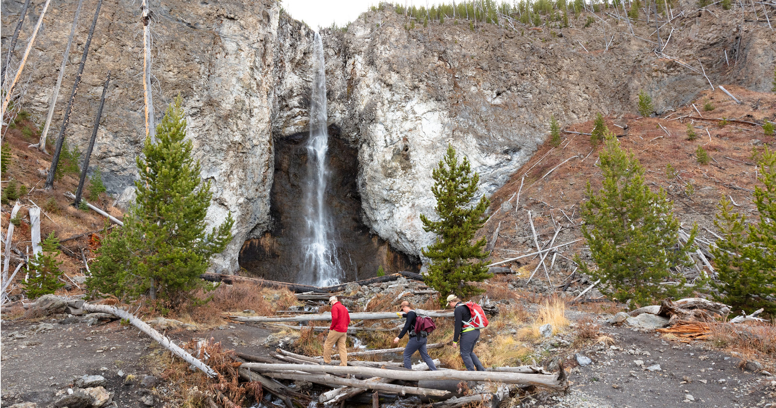 Hikers Below Fairy Falls