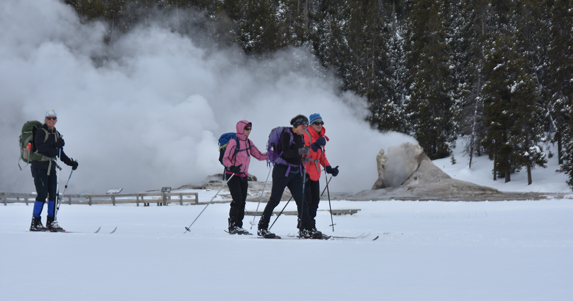 Skiing at the Upper Geyser Basin
