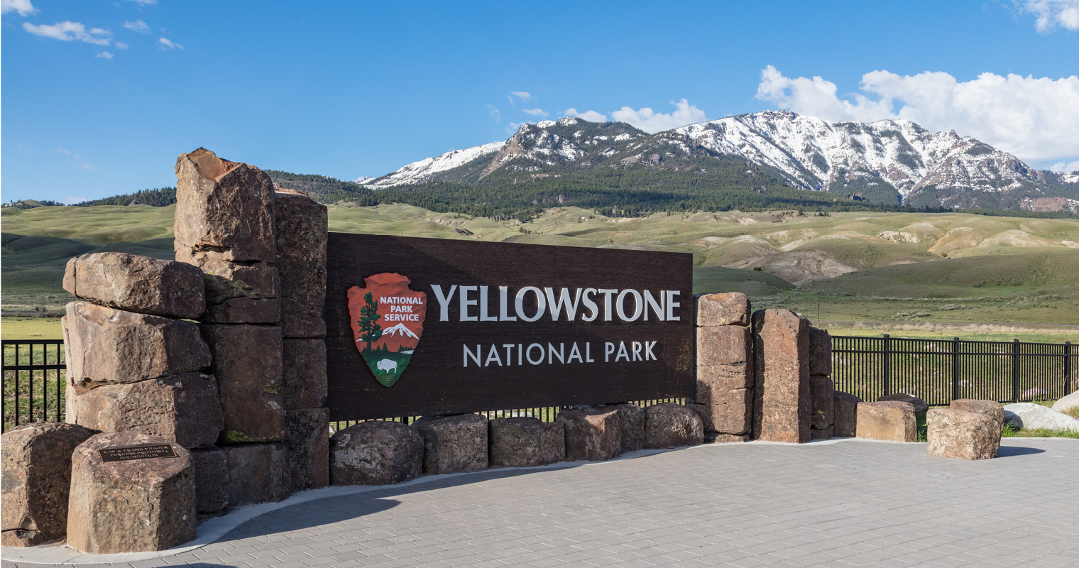 spring at Yellowstones North Entrance