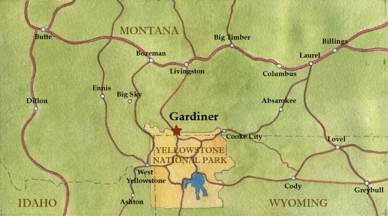 Map of the Greater Gardiner Area